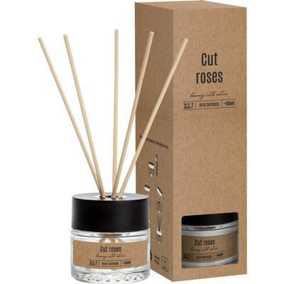 Bispol fragrance diffuser rattan sticks 50 ml - Cut Roses