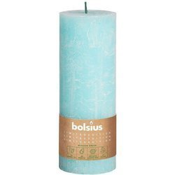 Bolsius Rustic Divine Earth unscented solid pillar candle 190/68 mm 19 cm - Sky