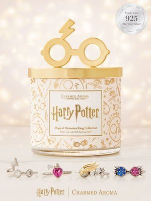 Charmed Aroma Harry Potter Magical Moments jewel soy scented candle 925 Sterling Silver Ring 12 oz 340 g