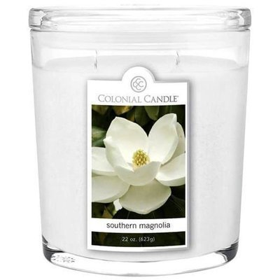 Colonial Candle large scented oval jar candle 22 oz 623 g - Southern Magnolia
