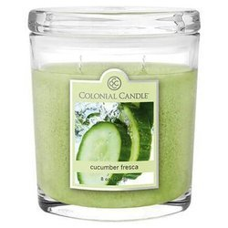 Colonial Candle medium scented oval jar candle 8 oz 226 g - Cucumber Fresca