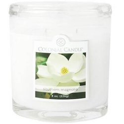 Colonial Candle medium scented oval jar candle 8 oz 226 g - Southern Magnolia