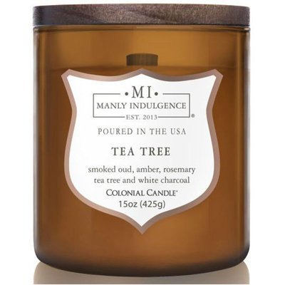 Colonial Candle wooden wick soy scented candle amber 15 oz 425 g - Tea Tree