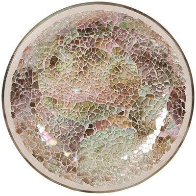 Woodbridge candle plate 16 cm Natural Crackle Mosaic