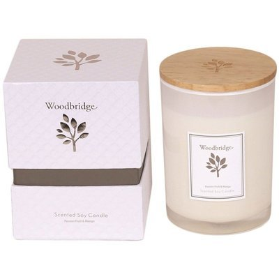 Woodbridge medium scented soy candle 270 g in a box - Passion Fruit & Mango