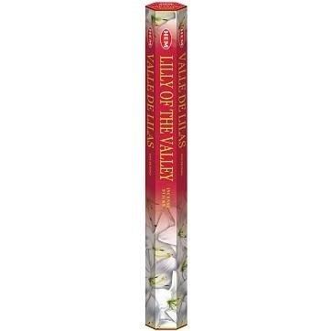 .HEM kadzidła kadzidełka długie w sześciokątnym pudełku 20 szt kwitnąca konwalia - Lily Of The Valley