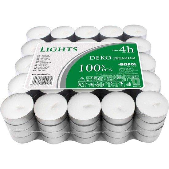Bispol Deko Premium Lights podgrzewacze tealighty bezzapachowe ~ 4 h 100 szt