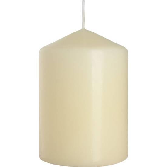 Bispol pillar unscented solid candle 100/68 mm - Ivory