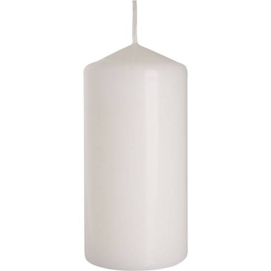 Bispol pillar unscented solid candle 120/58 mm - White