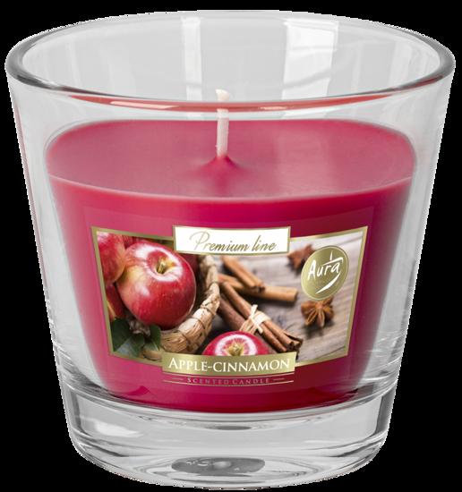 Bispol scented candle glass pink 140 g Aurelia - Apple Cinnamon