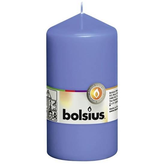 Bolsius unscented solid pillar candle 13 cm 130/68 mm - Cornflower Blue