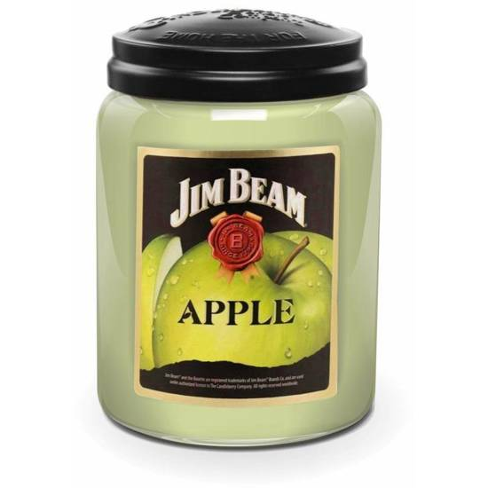 Candleberry Jim Beam large scented candle in jar 570 g - Jim Beam Apple®