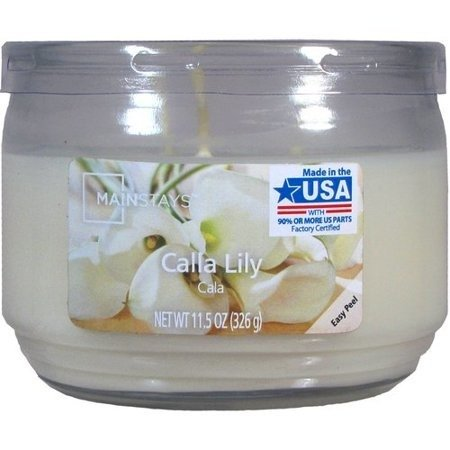 Mainstays WM Scented candle in glass jar 11.5 oz - Calla Lily