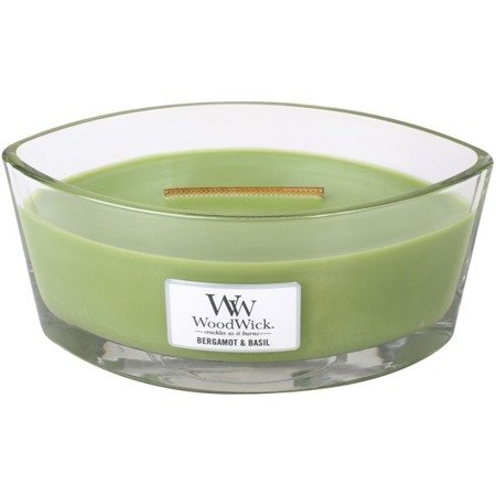 WoodWick Core Heartwick Candle świeca zapachowa sojowa w szkle łódka ~ 60 h - Bergamot & Basil