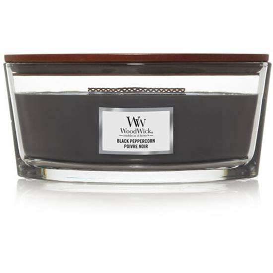 Woodwick Core Heartwick Ellipse Large Scented Candle with Wooden Wick 16 oz 453.6 g - Black Peppercorn