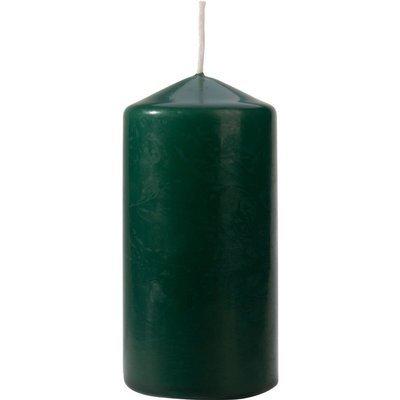 Bispol świeca bezzapachowa bryłowa pieńkowa słupek 120/58 mm - Butelkowa zieleń