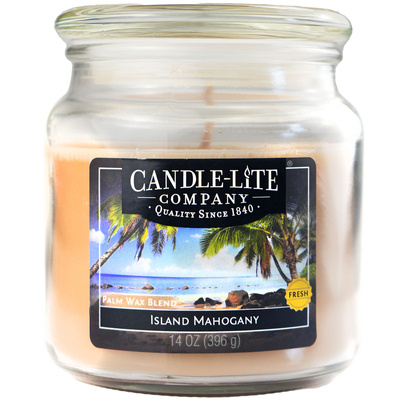 Candle-lite WM świeca zapachowa w szklanym słoju 14 oz 396 g - Island Mahogany CL