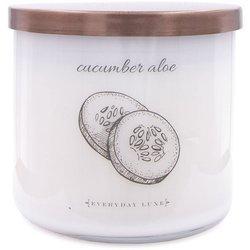 Colonial Candle Luxe sojowa świeca zapachowa w szkle 3 knoty 14.5 oz 411 g - Cucumber Aloe