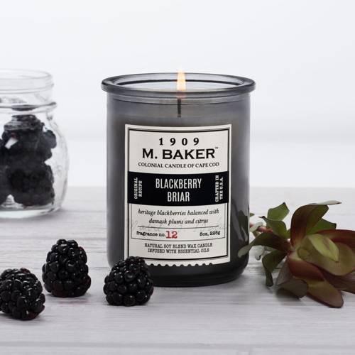 Colonial Candle M. Baker sojowa świeca zapachowa w słoju 8 oz 226 g - Blackberry Briar
