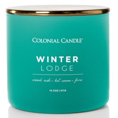Colonial Candle Pop Of Color sojowa świeca zapachowa w szkle 3 knoty 14.5 oz 411 g - Winter Lodge