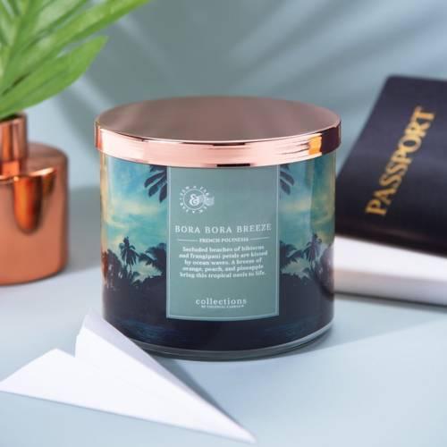 Colonial Candle Travel sojowa świeca zapachowa w szkle 3 knoty 14.5 oz 411 g - Bora Bora Breeze