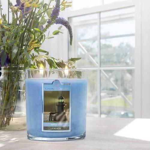 Colonial Candle duża świeca zapachowa w owalnym szkle 22 oz 623 g - Harbor Mist
