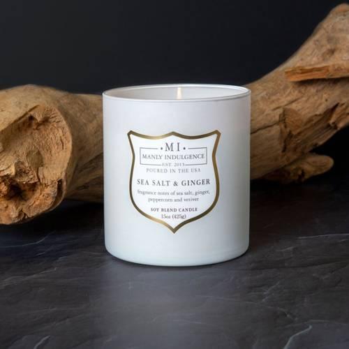 Colonial Candle sojowa świeca zapachowa w szkle drewniany knot 15 oz 425 g - Sea Salt & Ginger