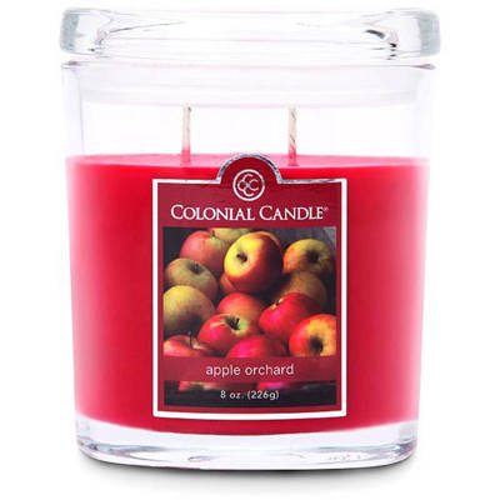 Colonial Candle średnia świeca zapachowa w owalnym szkle 8 oz 226 g - Apple Orchard