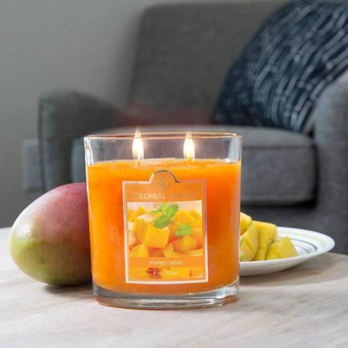 Colonial Candle średnia świeca zapachowa w owalnym szkle 8 oz 226 g - Mango Salsa