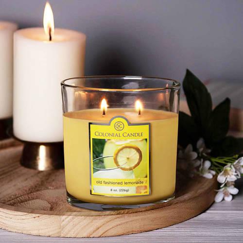 Colonial Candle średnia świeca zapachowa w owalnym szkle 8 oz 226 g - Old Fashioned Lemonade