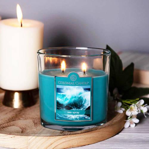 Colonial Candle średnia świeca zapachowa w owalnym szkle 8 oz 226 g - Sea Spray