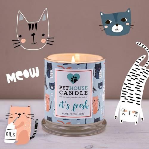 PetHouse Candle sojowa świeca zapachowa neutralizująca zapach - It's Fresh Home, Fresh Home