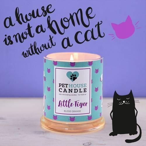 PetHouse Candle sojowa świeca zapachowa neutralizująca zapach - Little Tiger Blood Orange