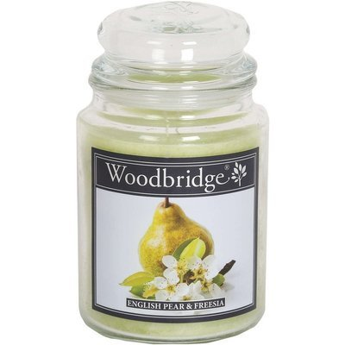 Woodbridge świeca zapachowa w słoju duża 2 knoty 565 g - English Pear & Freesia