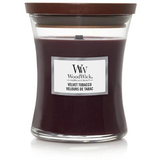 WoodWick Core średnia świeca zapachowa z drewnianym knotem 9.7 oz 275 g - Velvet Tobacco
