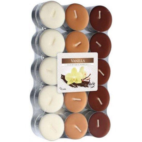 Bispol Scented Tealights podgrzewacze zapachowe ~ 4 h 30 szt - Vanilla