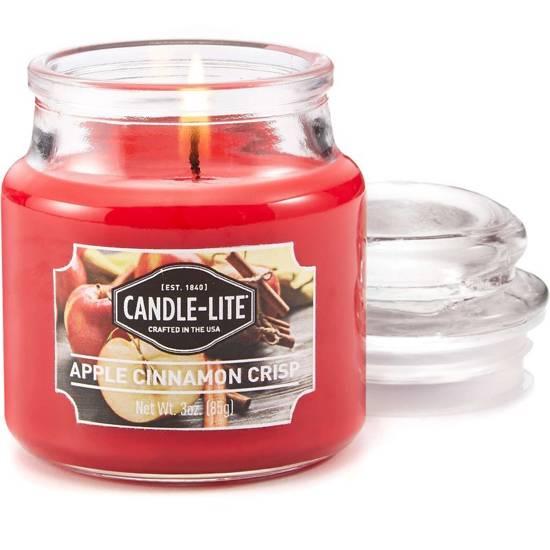 Candle-lite Everyday Collection Jar Glass Candle With Lid 3 oz świeca zapachowa w szkle z pokrywką 95/60 mm 85 g ~ 27 h - Apple Cinnamon Crisp