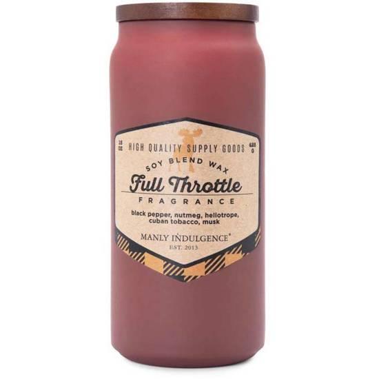 Colonial Candle Adventure męska sojowa świeca zapachowa w szkle 15 oz 425 g - Full Throttle