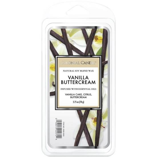 Colonial Candle Classic wosk zapachowy sojowy 2.75 oz 77 g - Vanilla Buttercream