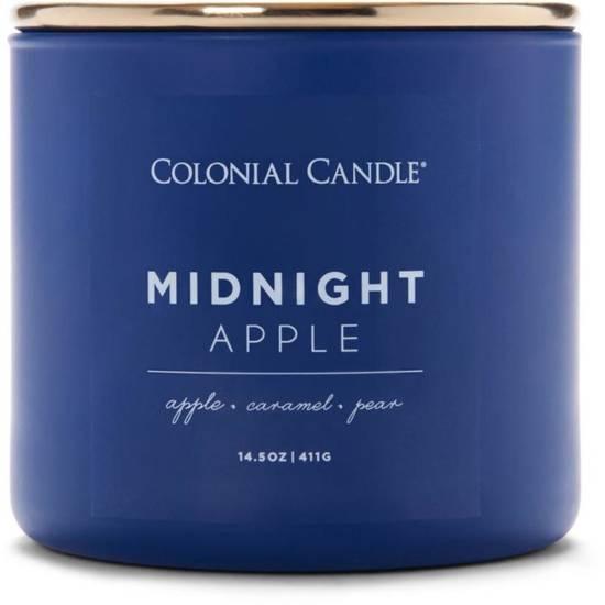 Colonial Candle Pop Of Color sojowa świeca zapachowa w szkle 3 knoty 14.5 oz 411 g - Midnight Apple