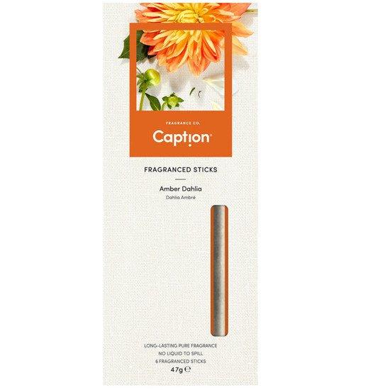 Enviroscent Caption patyczki zapachowe dyfuzor naturalny z papieru 6 szt - Amber Dahlia