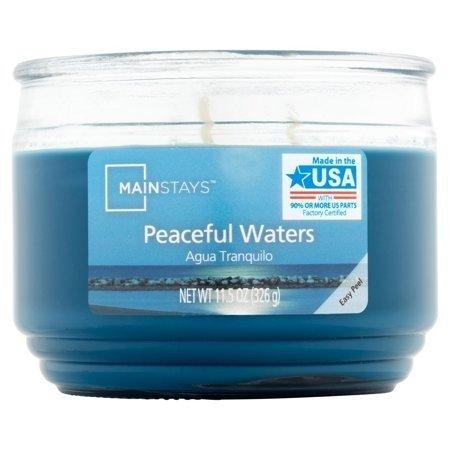 Mainstays WM świeca zapachowa w szklanym słoju 11.5 oz 326 g - Peaceful Waters CL001