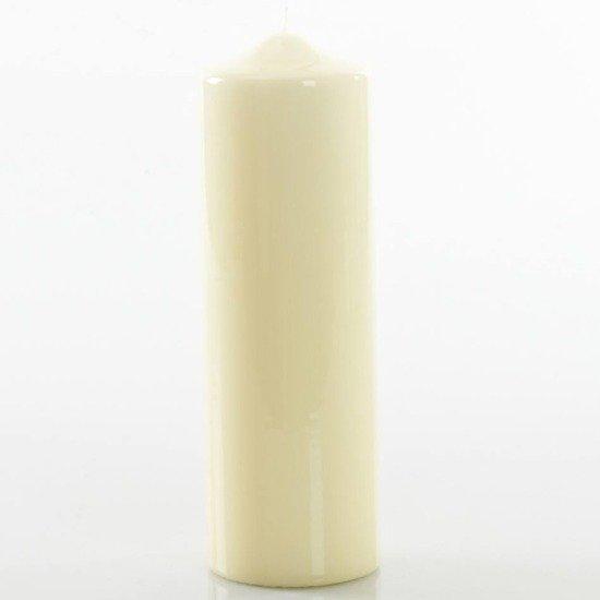 Meloria Candela di Lusso Candelotto Classic luksusowa kremowa świeca dekoracyjna pieńkowa słupek 240/80 mm - Avorio