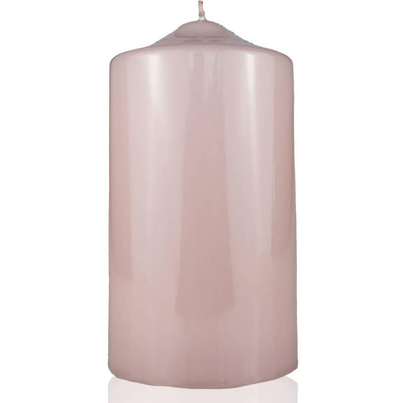 Meloria Candela di Lusso Candelotto Classic luksusowa różowa świeca dekoracyjna pieńkowa słupek 150/80 mm - Tortora