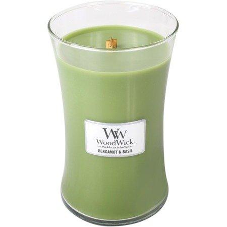 WoodWick Core Large Candle świeca zapachowa sojowa w szkle ~ 175 h - Bergamot & Basil